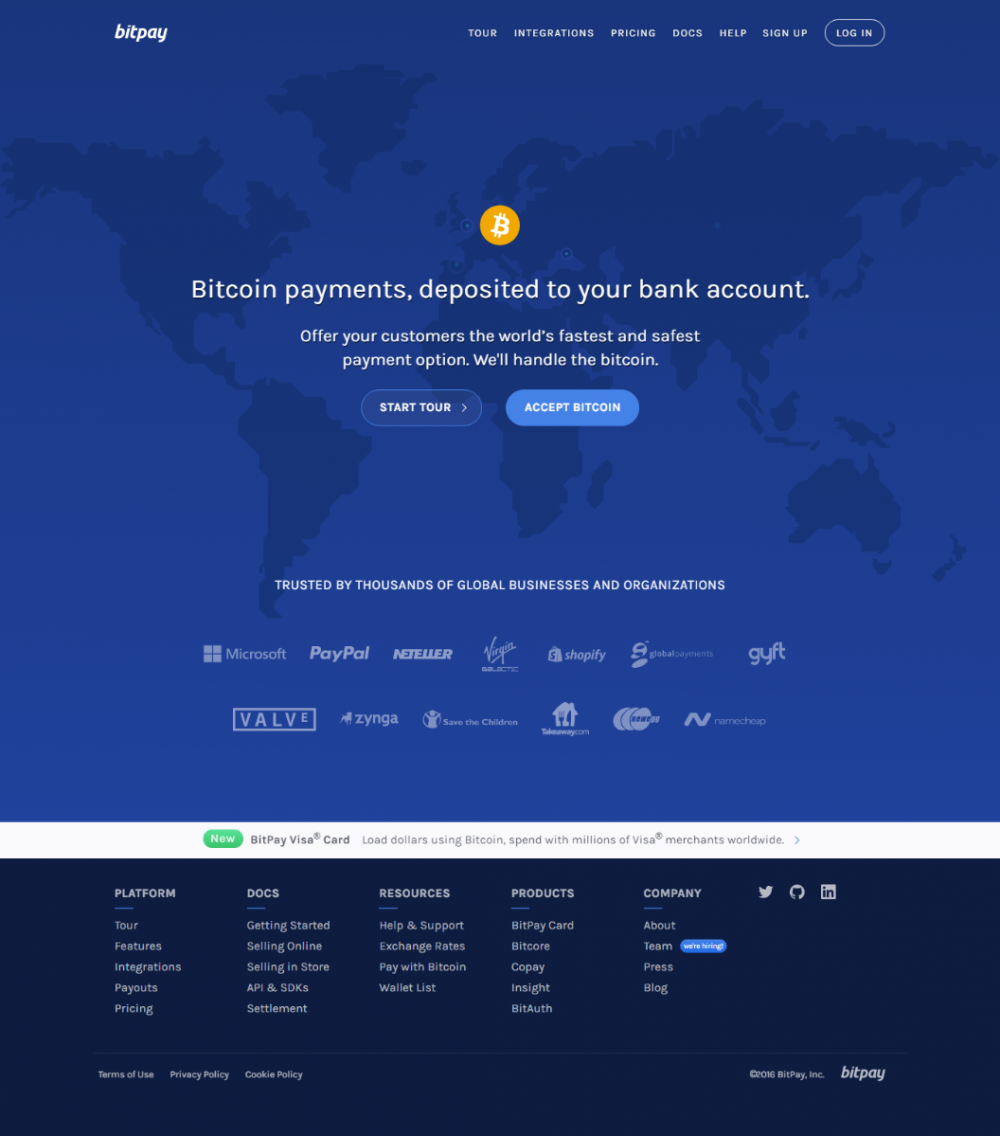 Bitcoin payment with Bitpay